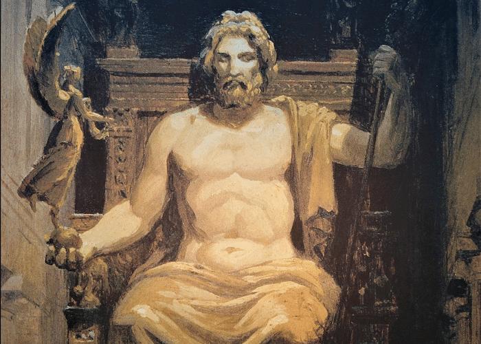 zeus - ruler of Olympus